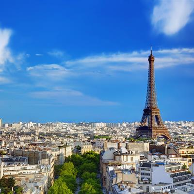 Paris - France, France, Eiffel Tower, Urban Skyline, Europe, City, Blue, Famous Place, Sky, Aerial View, Summer, Cityscape, Roof